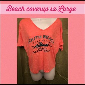 Tops - South Beach coverup size large.